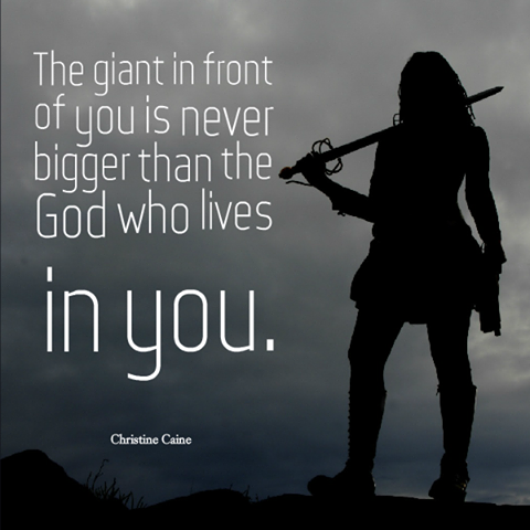 GIANT IN FRONT OF ME IS NOT GREATER THAN THE GOD WHO'S WITH ME
